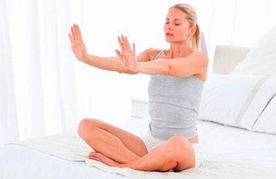 дыхательные упражнения сидя