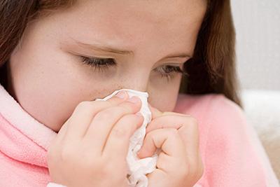 девочка заболела