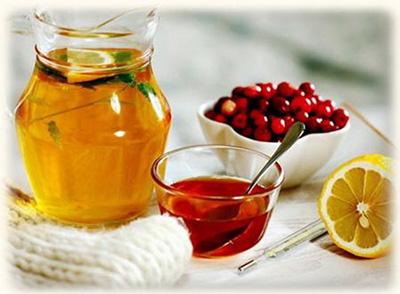лимон клюква мед